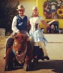 Cowboy & Cowgirl with Plush Buffalo