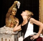 Create an interactive sculpture garden where statues come to life to serve and entertain your guests...