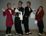 Comic waiters ensemble