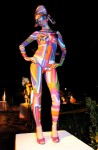 Sol Lewitt inspired body painting