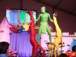 Tri-color acrobatics