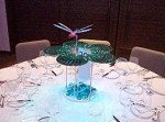 Illuminated Lilly pond centerpieces and art installation