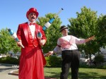 Turn of the century- Carnival Barker and Juggler on Stilts