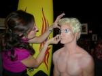 Gigi transforming a model into Malibu Ken Doll Surfer