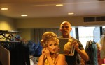 Emmanuel working on character's hair & wig at NetSuite Hairball Awards