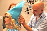 Emmanuel working on character's hair & wig at ars event at W Hotels