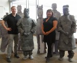 Living Terra Cotta Warrior statues entertain at SFO for maiden voyage flight to Xi'an