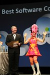 NetSuite Hairball Awards Ceremony with Pink Character