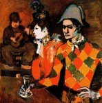 Picasso -In Lapin Agile or Harlequin with a Glass-