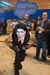 Marilyn Manson swallowing a sword