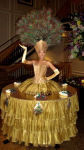 Strolling Table: Gold Peacock