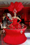 Strolling Table: Red Showgirl