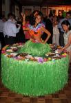 Strolling Table: Hawaiian Hula Girl
