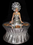 Strolling Table: Silver Sequin