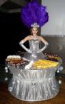 Strolling Table: Silver Disco w/ Pruple