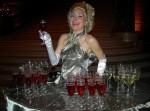 Platinum table dress -platinum cocktail lady-