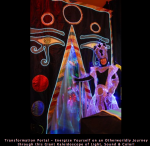 Enter our giant kaleidoscope portal into our magic realm