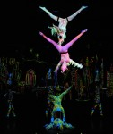 Aerial ensemble in theatrical lighting