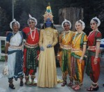 Indian blu goddess ensemble