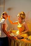 Golden fairy makeup / face painting station