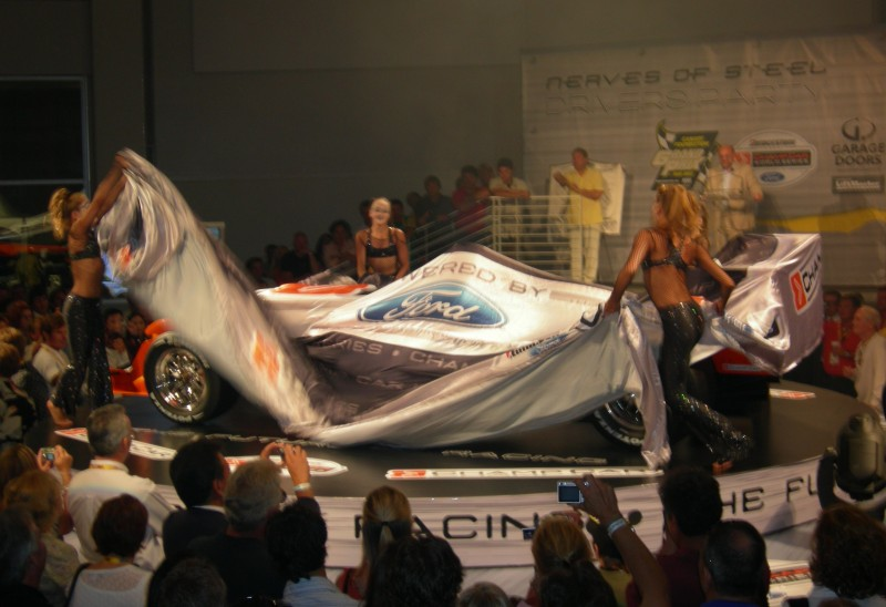 Unveiling a new Ford Motors race car