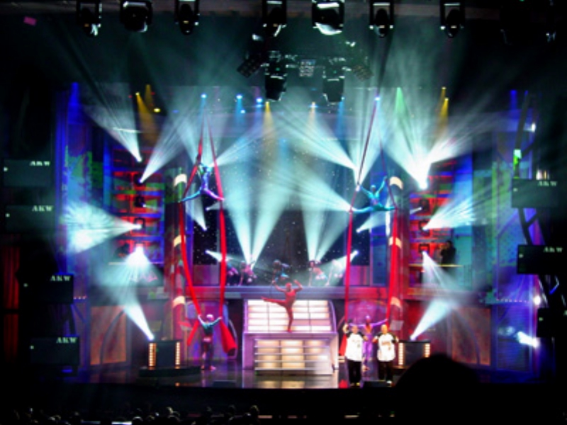 Aerial and Acrobatic Specialty Act Leading to the Univision Human Logo as shown to the right