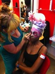 Adrien from Atelier Emmanuel, Alison from Velocity Circus, with model Kelly created the winning look at this years Beauty Expo