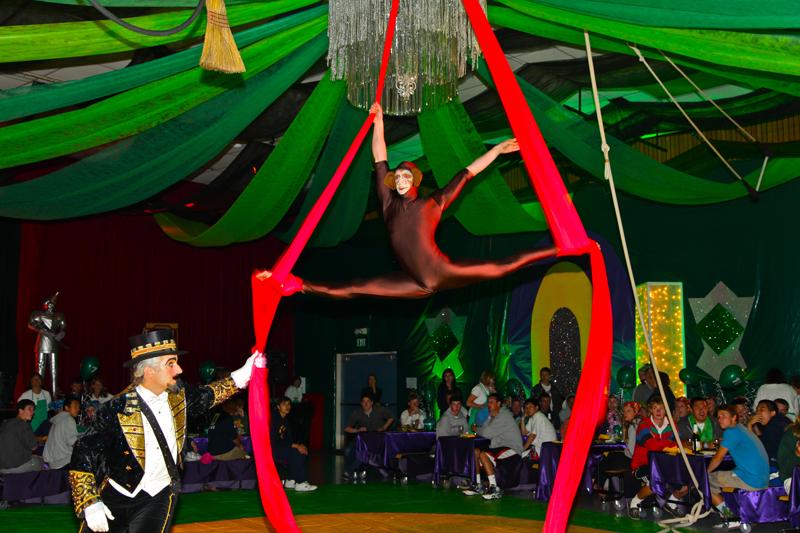 Monkey earning his wings