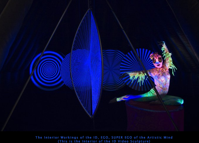 The Interior Workings of the ID, EGO, SUPER EGO of the Artistic Mind (This is the Interior of the ID Video Sculpture)