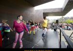 Youth Aerobics - Family Show in the Museum Courtyard
