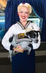 San Francisco Sailor Girl and Her Trick Dog