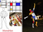 Artistic Nude - Mondrian inspired Living Sculpture