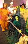 Dorothy Scarecrow, Tin Woodman, Cowardly Lion and Wicked Witch of the West